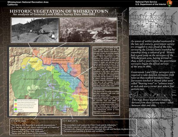 Whiskeytown Historic Vegetation Poster Display